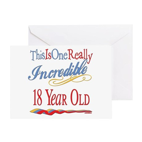 Incredible At 18 Greeting Card