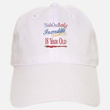 Incredible At 18 Baseball Baseball Cap