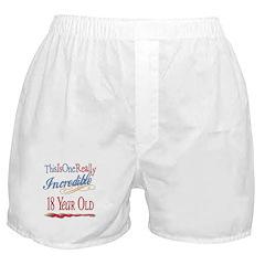 Incredible At 18 Boxer Shorts