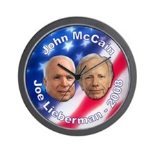 McCain Lieberman Wall Clock