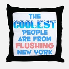 Coolest: Flushing, NY Throw Pillow
