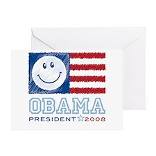 Obama Smiles Greeting Card