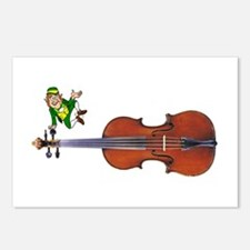 Fiddle With Leprechaun Postcards (Package of 8)