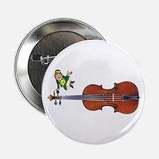 "Fiddle With Leprechaun 2.25"" Button"