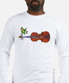 Fiddle With Leprechaun Long Sleeve T-Shirt