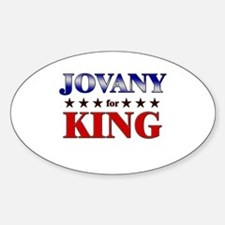 JOVANY for king Oval Decal