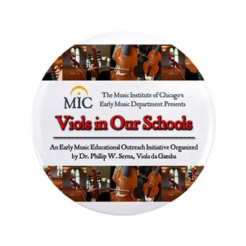 """Viols in Our Schools 3.5"""" Buttons"""