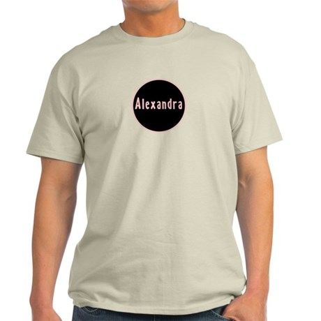 Alexandra - Pink Circle Light T-Shirt