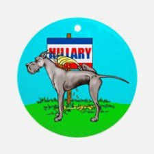 Black Dane Pi$$ on Hillary Ornament (Round)