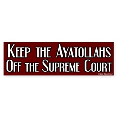 Keep off Ayatollahs Bumper Bumper Sticker