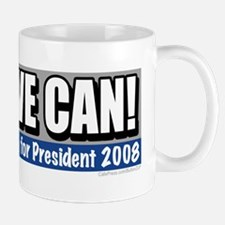 Yes we can Obama '08  Small Small Mug