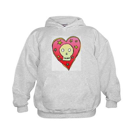 Skull Heart Kids Hoodie