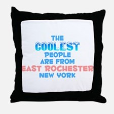 Coolest: East Rochester, NY Throw Pillow