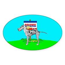 Merle Dane Pi$$ on Obama Oval Decal