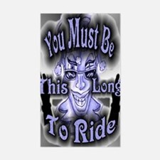 You Must Be This Long To Ride Sticker (Rectangular