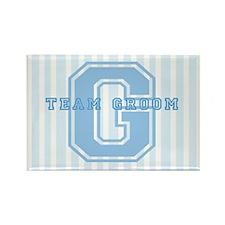 Team Groom (Blue) Rectangle Magnet