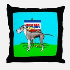 Mantle Dane Pi$$ on Obama Throw Pillow
