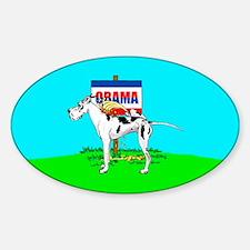 Harle Dane Pi$$ on Obama Oval Decal