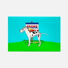 Harle Dane Pi$$ on Obama Rectangle Magnet