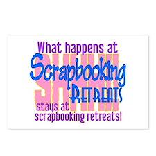 Scrapbooking Retreats Shhh! Postcards (Package of