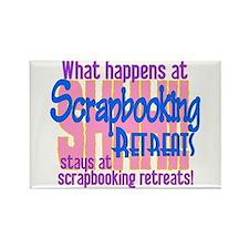 Scrapbooking Retreats Shhh! Rectangle Magnet