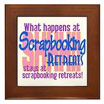 Scrapbooking Retreats Shhh! Framed Tile