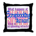 Scrapbooking Retreats Shhh! Throw Pillow