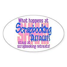 Scrapbooking Retreats Shhh! Decal