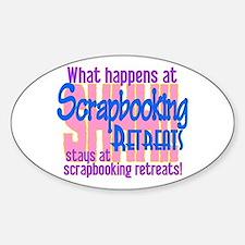 Scrapbooking Retreats Shhh! Sticker (Oval)