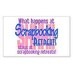Scrapbooking Retreats Shhh! Sticker (Rectangle)