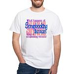 Scrapbooking Retreats Shhh! White T-Shirt