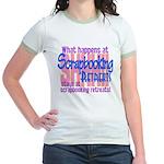 Scrapbooking Retreats Shhh! Jr. Ringer T-Shirt