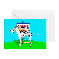 Harle Dane Pi$$ on Obama Greeting Card