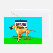 Fawn Dane Pi$$ on Obama Greeting Card