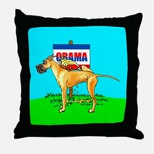 Fawn Dane Pi$$ on Obama Throw Pillow