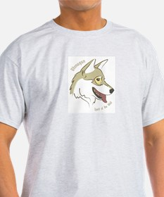 Utonagan 'Spirit of the Wolf' Ash Grey T-Shirt