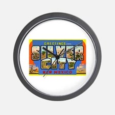 Silver City New Mexico Greetings Wall Clock