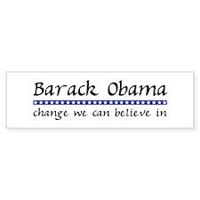 Obama Change Bumper Bumper Sticker