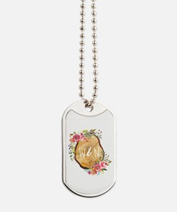 Monogram Initials in Wood Dog Tags