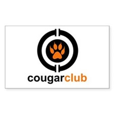 Cougar Club Rectangle Decal