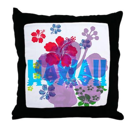 Hawaii Hibiscus Throw Pillow