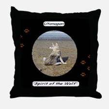 Utonagan 'Spirit of the Wolf' Throw Pillow