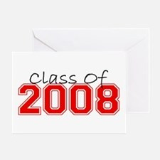 Class Of 2008 (Red Varsity) Greeting Card