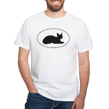 Devon Rex Silhouette White T-Shirt