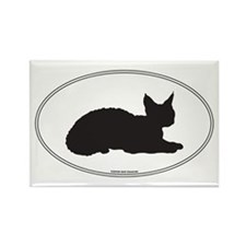 Devon Rex Silhouette Rectangle Magnet
