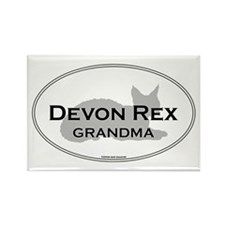 Devon Rex Grandma Rectangle Magnet
