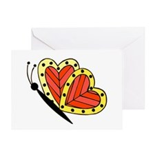 Butterfly Hearts 3 Greeting Card