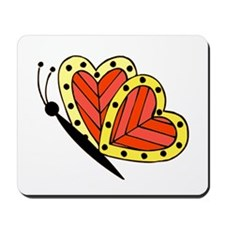 Butterfly Hearts 3 Mousepad