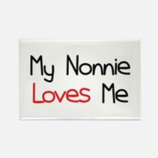 My Nonnie Loves Me Rectangle Magnet
