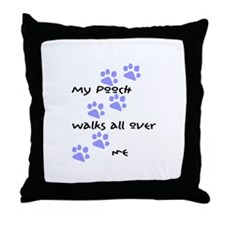 Cute My babies have paws Throw Pillow
